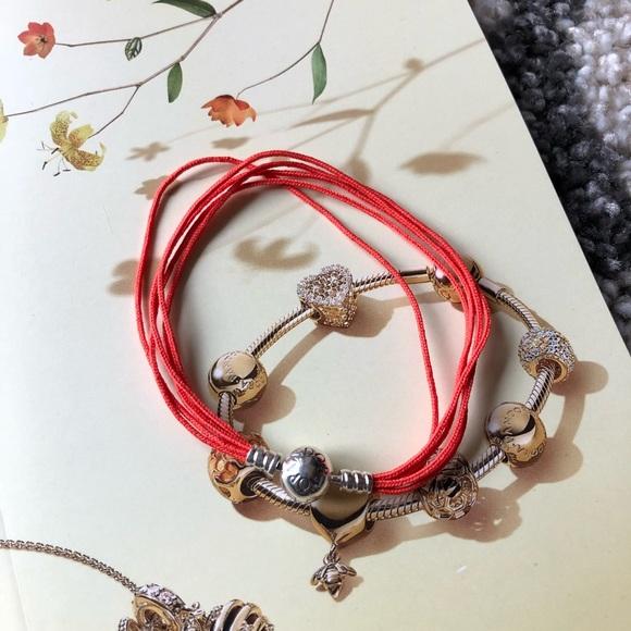 21d90bb7b Pandora Jewelry | New Multi Strand String Orange Bracelet | Poshmark